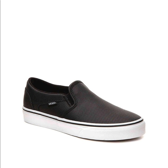 f47d1afe21 Vans Asher Perforated Leather Slip-On. M 5b4ebc32d6716aedd8e3245a